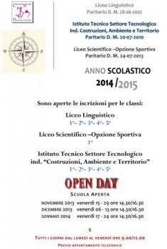 Open Days Istituti Paritari Galilei Treviso